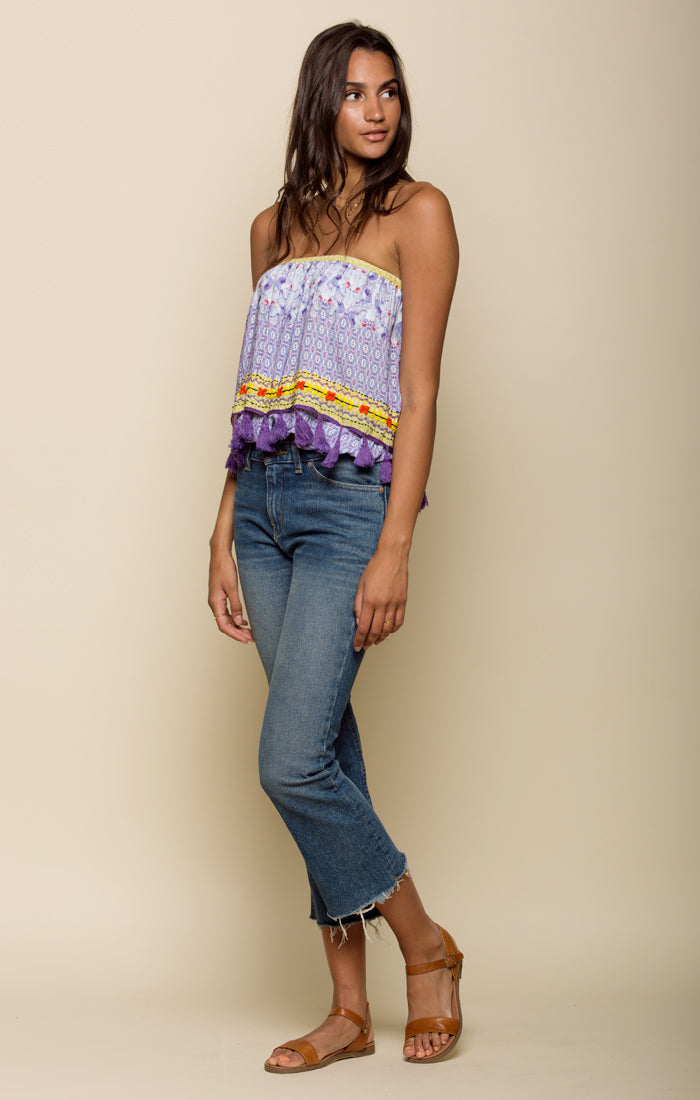 Tropicbird Tassel Crop Top