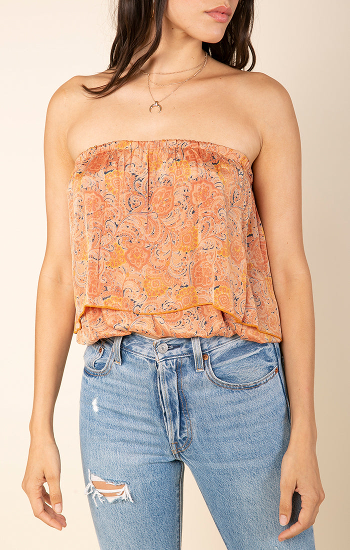 Nidhi Sleeveless Crop Top