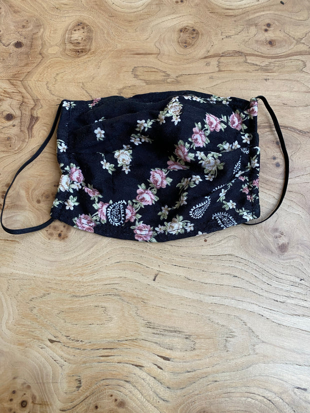 3X - Face Mask - Jacquard Floral and Paisley
