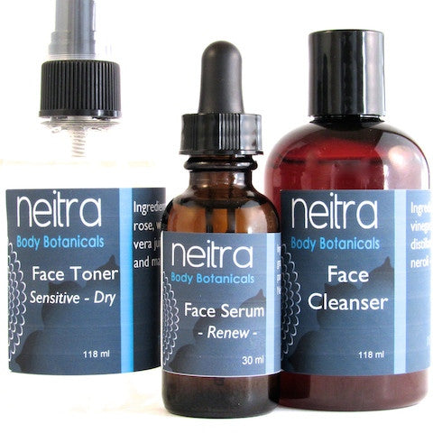 face toner serum and cleanser