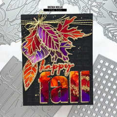 Fall Leaves Layered Cover Dies