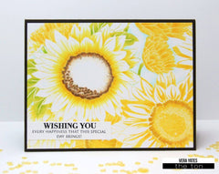 Sunflower Garden Cling Background