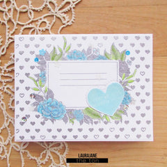 Mini Heart Print Cling Background