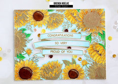 Sunflower Border Cling Background