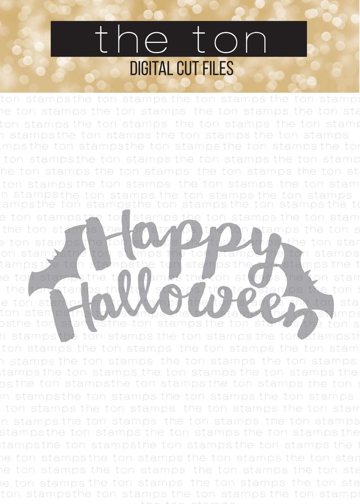 Brushed Happy Halloween SVG Cut File