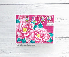 Layered Floral Alpha Stamps