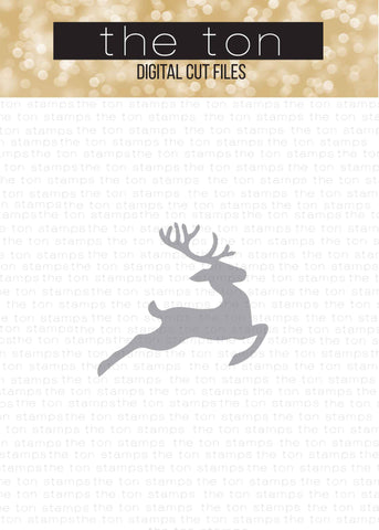 Jumping Reindeer SVG Cut File