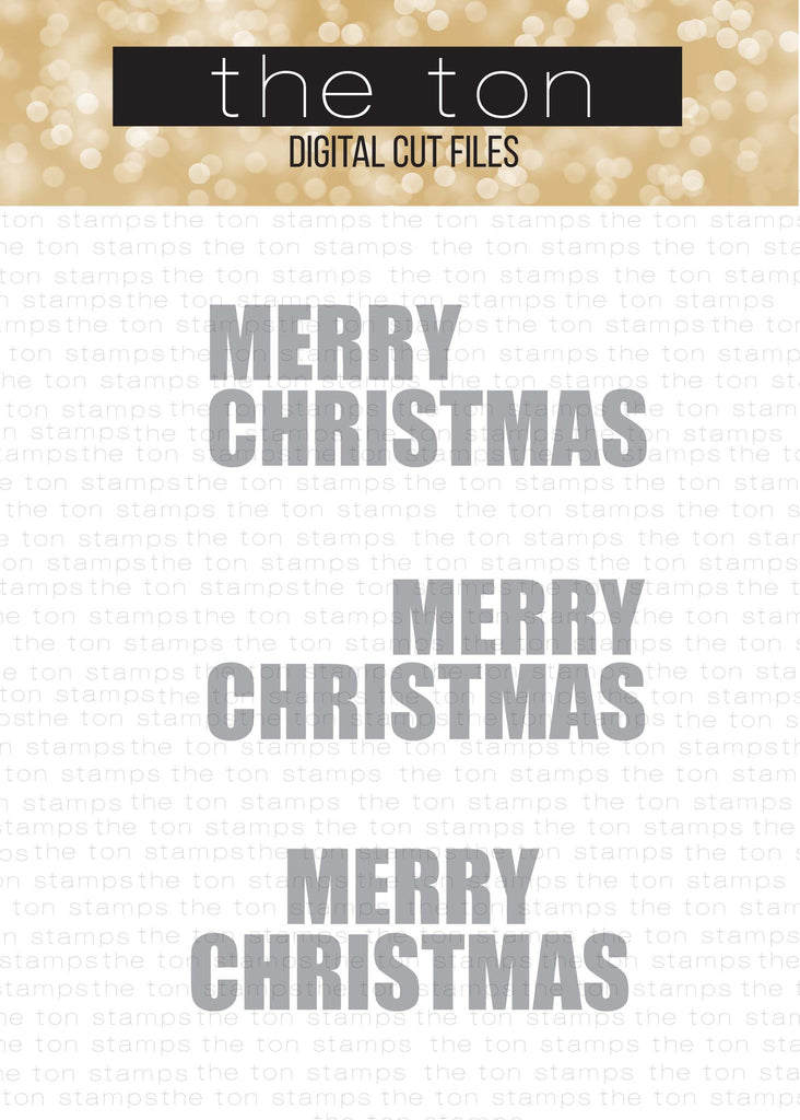 Merry Christmas Large SVG Cut Files Set