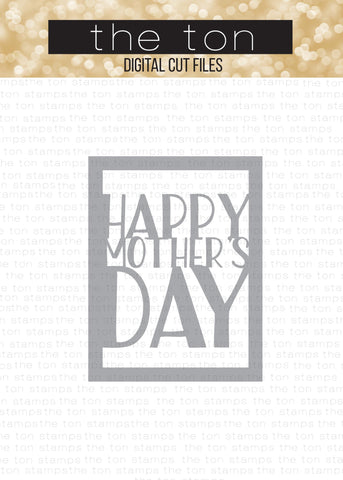 Mother's Day Coverplate - SVG Cut File
