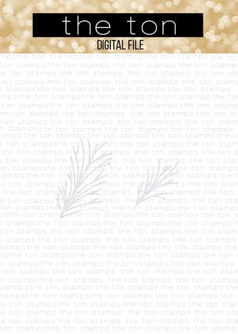 Pine Branches SVG Cut File