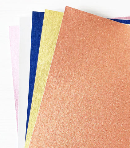 Adhesive Ribbed Glitter Paper - Mixed 3