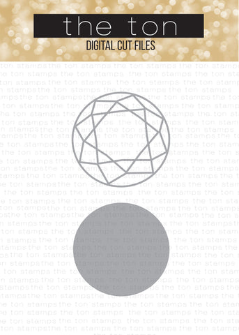 Diamonds (Round) - Solid + Outline SVG Cut File Set