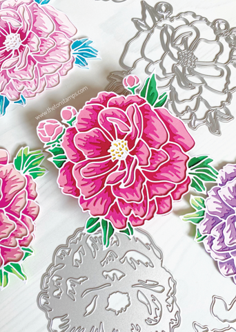 Lovely Peony Layering Dies