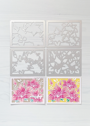 Lily Trio Layering Coverplate Dies