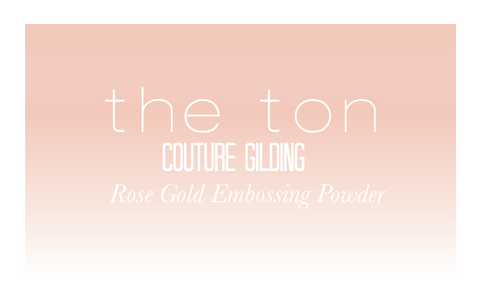 1. Rose Gold Embossing Powder