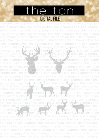 Deer Bundle SVG Cut File Set