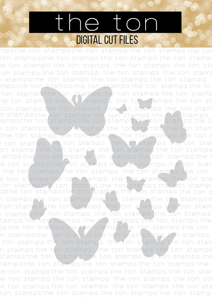Beautiful Butterflies 1 Coordinating Cut File