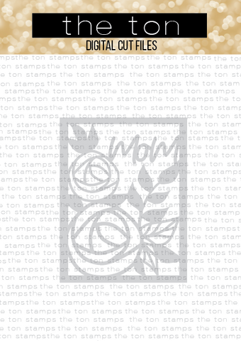 Floral Mom Coverplate SVG Cut File