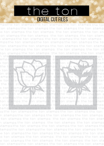 Floral Bud Layering Coverplates SVG Cut File