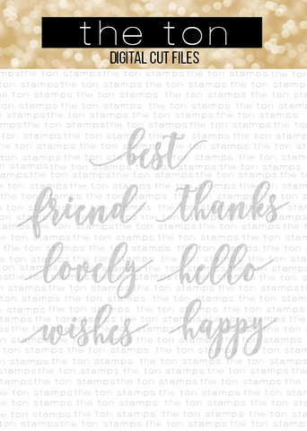 Scripty Sentiments SVG Cut File
