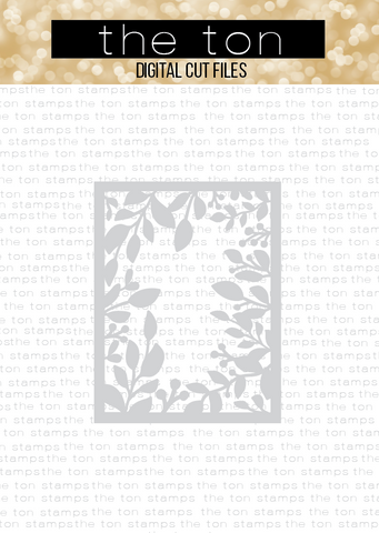 Garden Foliage Coverplate SVG Cut File