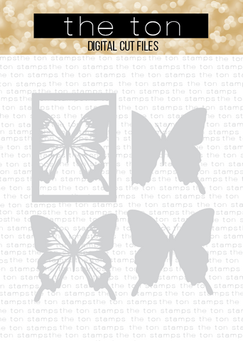 Swallowtail Butterfly Coverplate Bundle SVG Cut File