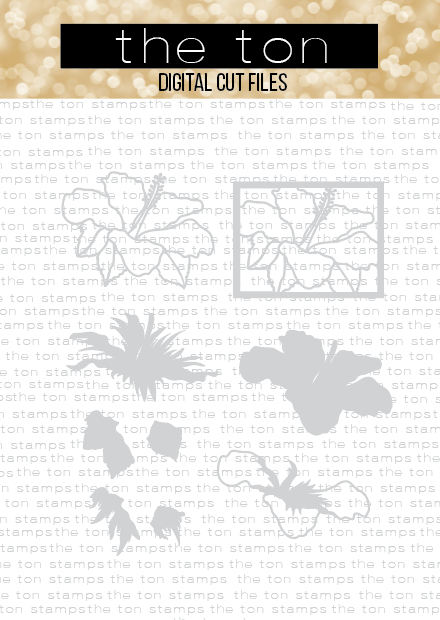 Hibiscus Layered Coverplate Bundle SVG Cut File