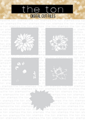 Layered Dahlia Stencil SVG Cut File