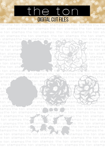 Fresh Layered Peony Bundle SVG Cut File