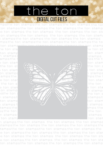 Butterfly Stencil SVG Cut File