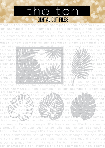 Monstera Layering Coverplate Bundle SVG Cut File