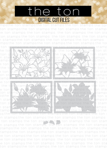 Lily Trio Layering Coverplates SVG Cut File