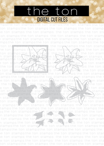 Fresh Layered Lily Bundle SVG Cut File