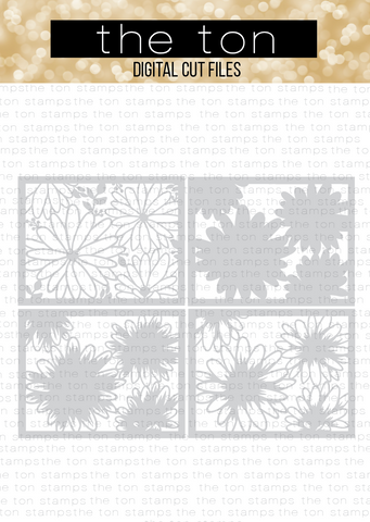 Daisy Layering Coverplates SVG Cut File
