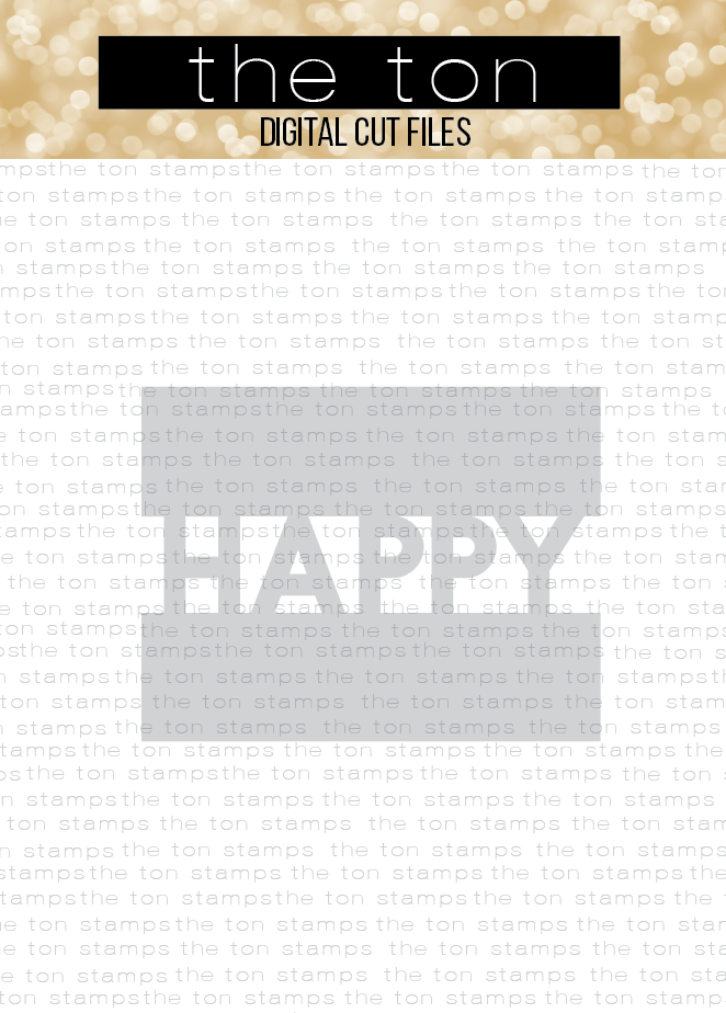 Mod Happy Semi Coverplate SVG Cut File
