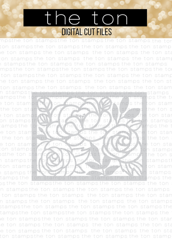 Fancy Florals Coverplate SVG Cut File