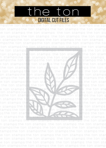 Large Leaf Coverplate SVG Cut File