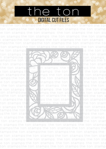 Floral Frame Coverplate SVG Cut File