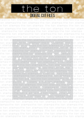 Stars All Over Stencil SVG Cut File