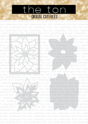 Layered Poinsettia SVG Cut File
