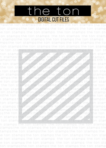Diagonal Stripe Stencil SVG Cut File