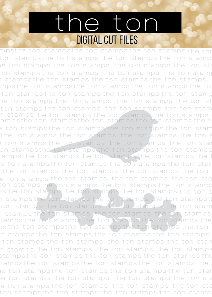 Winter Chickadee SVG Coordinating Cut File