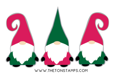 Gnome Trio SVG Cut File