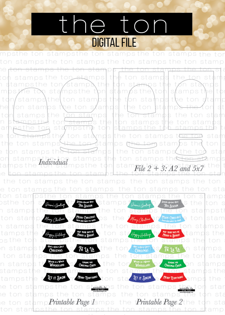 Snow Globe Bundle - SVG Cut Files and Printables