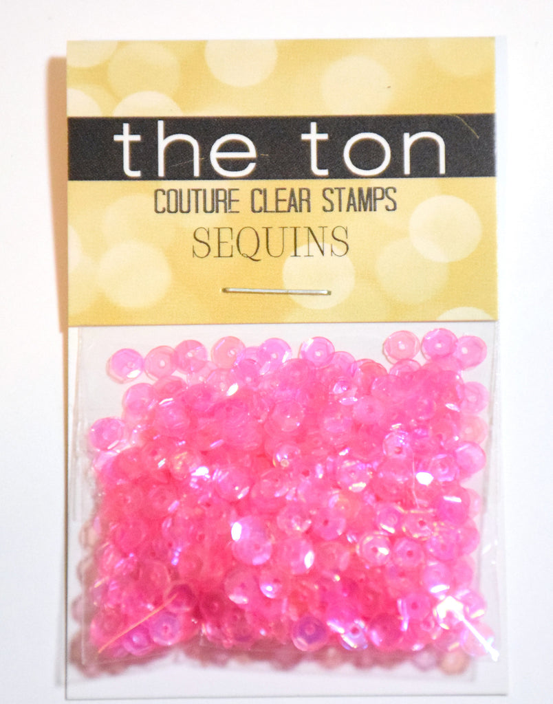 Precious Pink Sparkling Clear Sequins - 4mm