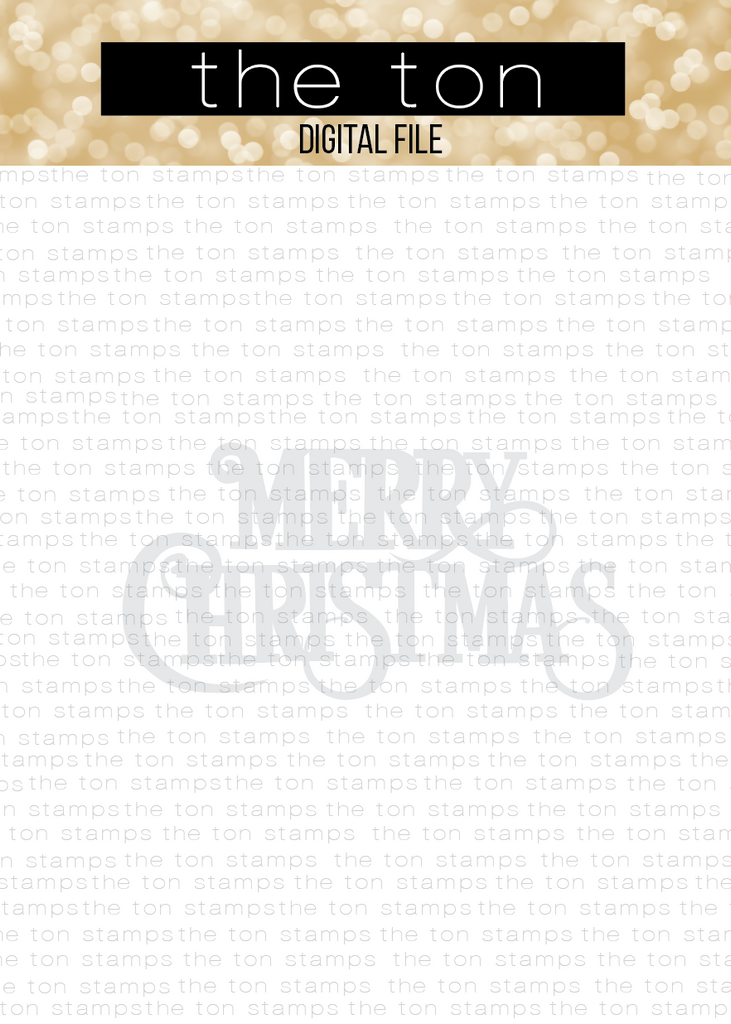 Vintage Merry Christmas Word SVG Cut File
