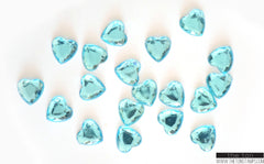 Aquamarine Heart Gems