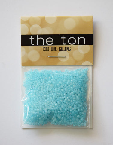Aqua Berries Matte Seed Beads