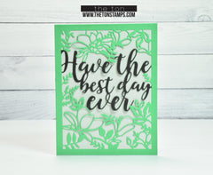 Best Day Ever Floral Coverplate Die