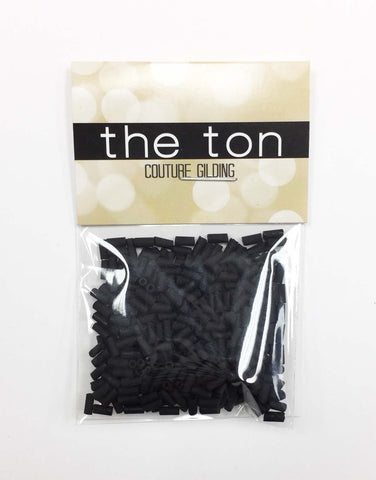 Black Matte Long Bugle Beads
